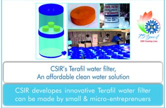 TERAFIL WATER FILTER—AN AFFORDABLE CLEAN WATER SOLUTION