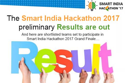The Smart India Hackathon 2017 preliminary results are out! - MyGov