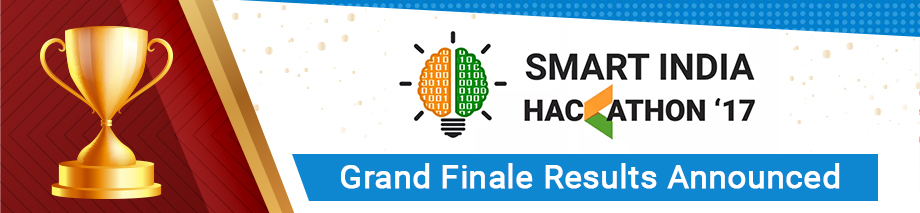 The Smart India Hackathon 2017 Grand Finale Results