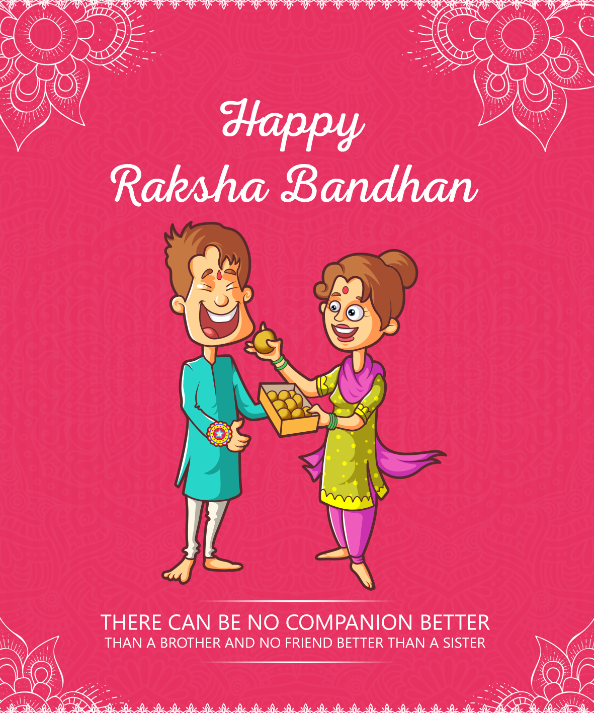 Announcing Winners For Egreetings Design Contest For Raksha Bandhan  Second Prize Nisha