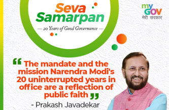 The mandate and the mission, Narendra Modi's 20 uninterrupted years in office are a reflection of public faith- By Prakash Javadekar