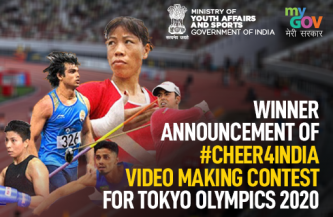Winner Announcement of #Cheer4India Video Making Contest for Tokyo Olympics 2020